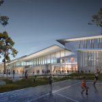 Chaumont Centre Aquatique Sportifs Et Culturel - Vu De Nuit Sur L'entrée Principale